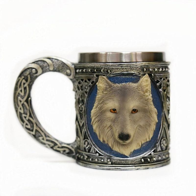 Taza cabeza lobo 3D