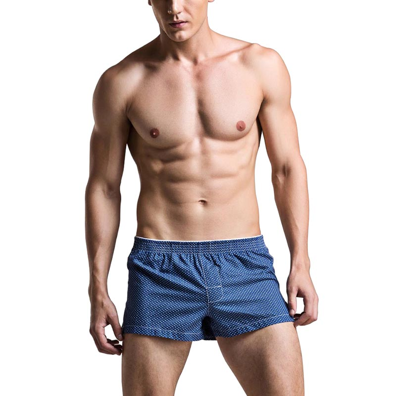 Beachwear Men   Board     Shorts   Dot Underpants Swimwear Male Swimsuits Surfing Wear Quick Dry Sportswear Jogger Workout Bottom Boxers