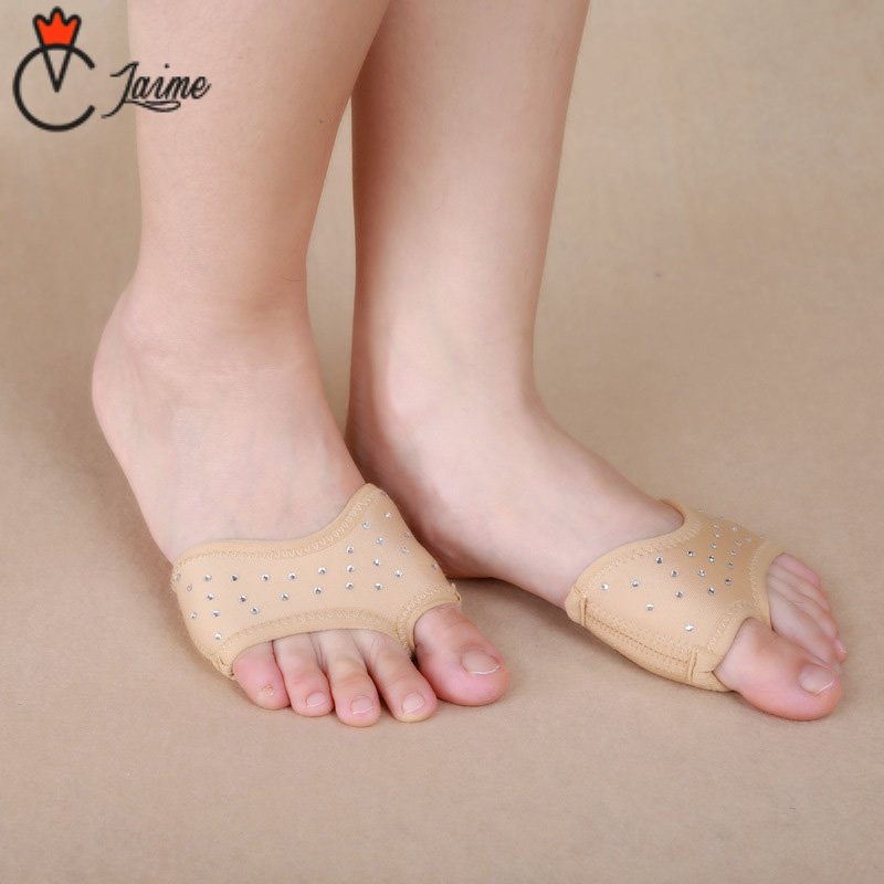 High-grade Belly Dance Fitness Practice Shoes Foot Toe Pad Ballet Dance Socks 1 Pair Practice Foot Protection