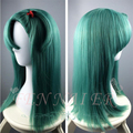New Dragon Ball Bulma blue Medium long straight hair wigs women cartoon fashion cosplay wig