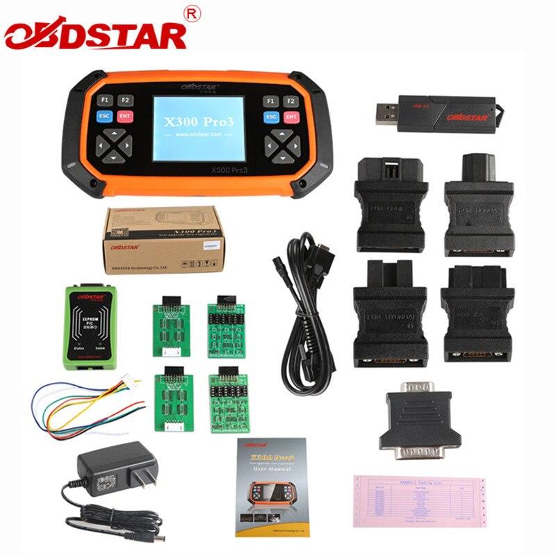 OBDSTAR X300 PRO3 Master Key con Immobilizzatore + Regolazione del Contachilometri + EEPROM/PIC + OBDII per Toyota G & H Chip Tutte Le Chiavi Perse
