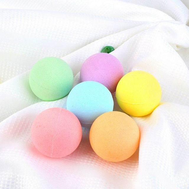 6Pcs Organic Bath Salt Bombs Bubble Salts Ball Oil Sea Salt Handmade SPA Stress Relief Exfoliating Ginger Coconut Oil Flavor 2