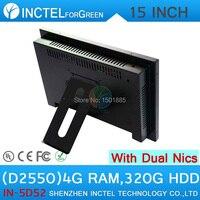 15 дюймов D2550 светодиодный сенсорный Настольный ПК с 5 проводом Gtouch 4G Оперативная память 320G HDD