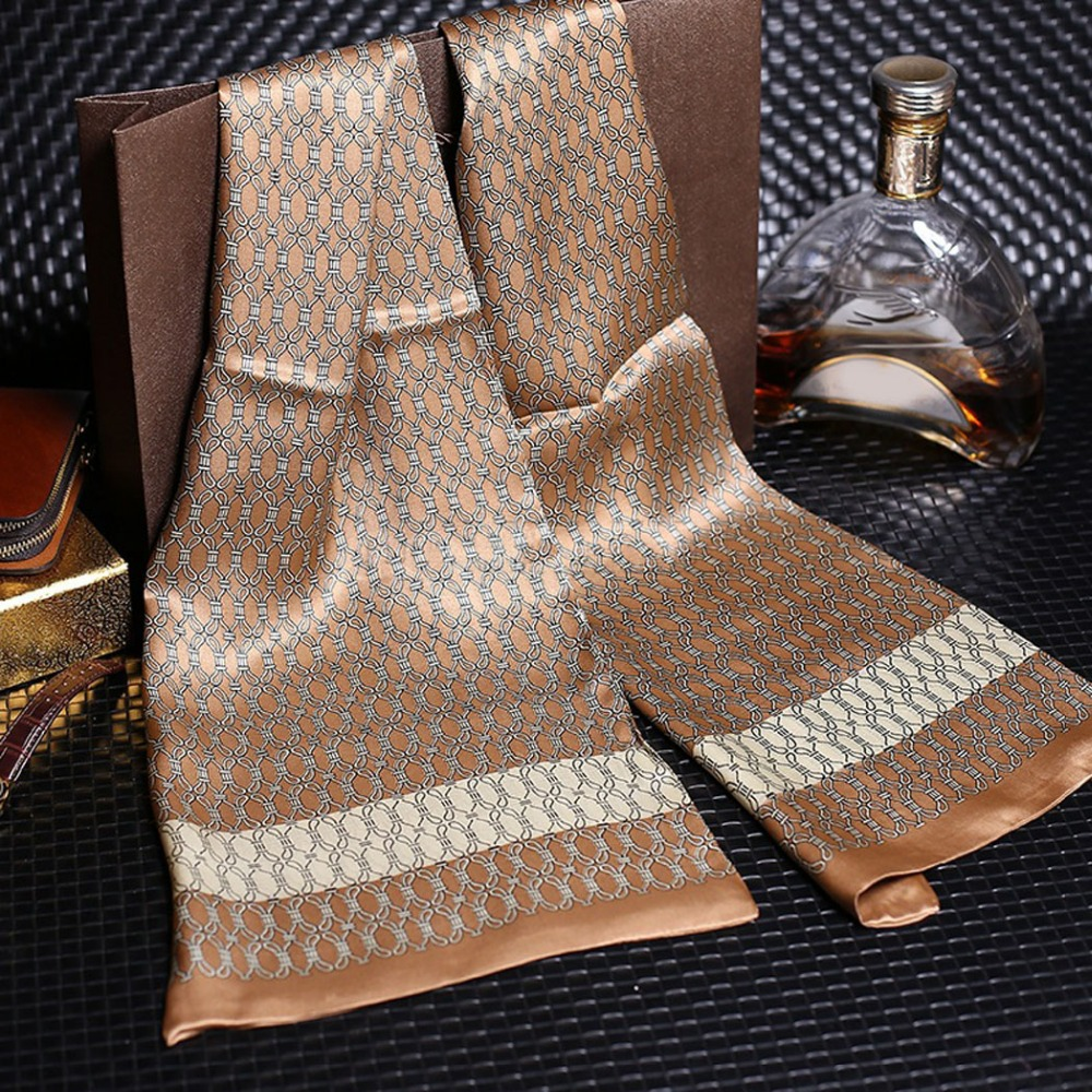 Silk Scarf Foulard Muffler Jacquard Paisley Business Luxury Men For Casual Royal Printing