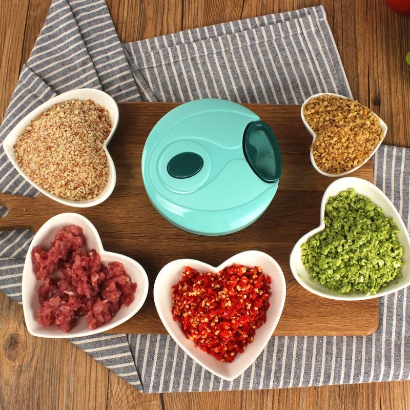 Varmhus Fashion Multifunction Vegetable Processor Chopper Garlic Cutter Vegetable Fruit Twist Shredder Manual Meat Grinder