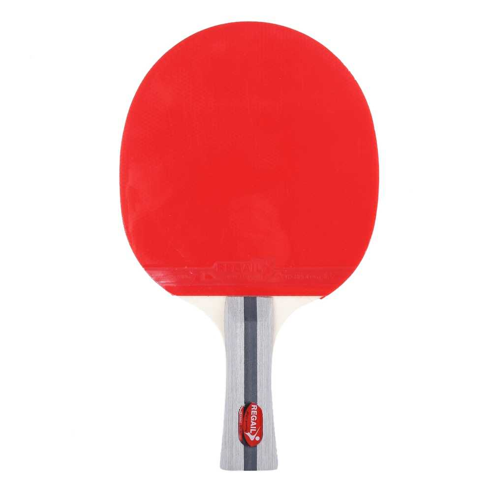 Table Tennis Ping Racket Pong 5PCS set Horizontal Grip Two Long Handle Paddle Bat Three Balls with Bag Pimples-in Table