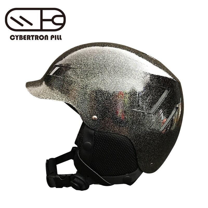 CYBERTRON PILL лыжный шлем блеск стиль дышащий амортизация и ударопрочность кожа материал открытый лыжный шлем
