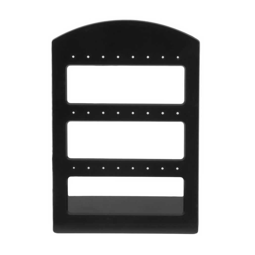 New 24 Holes Plastic Stud Earring Stands Hooks Jewelry Display Show Packaging Cards Jewellery Organizer Holder Rack Gift