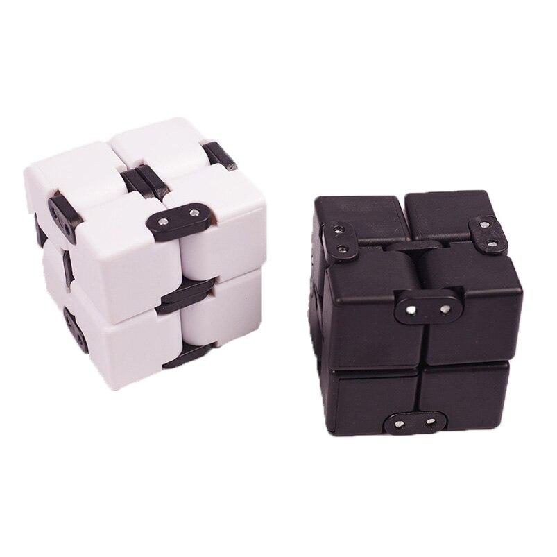 Creative Infinity Cube Finger Fidget Square Infinite Flip Plastic Puzzle Magic Cube Flip Spinner Hand Anti