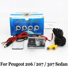 Камера Заднего вида Для Peugeot 206 207 307 Седан 2006 ~ Настоящее/RCA AUX Проводной Или Беспроводной/CCD Ночного Видения HD Парковка камера