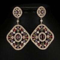 תליון גדול הגעה חדשה צבע זהב Brincos תכשיטי אופנה בוהמיה סגנון ארוך זרוק נשים EarringsFor אביזרי E-023