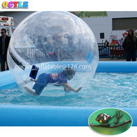 Hot OCYLE Free Shipping Inflatable Bubble Water Polo, Inflatable Toy Inflatable Pool Water Plunge, Swimming Pool Floating Ball