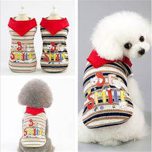 Dog Shirt  Cartoon Summer dog Vest T 2019 Small Cat Striped Clothes Apparel