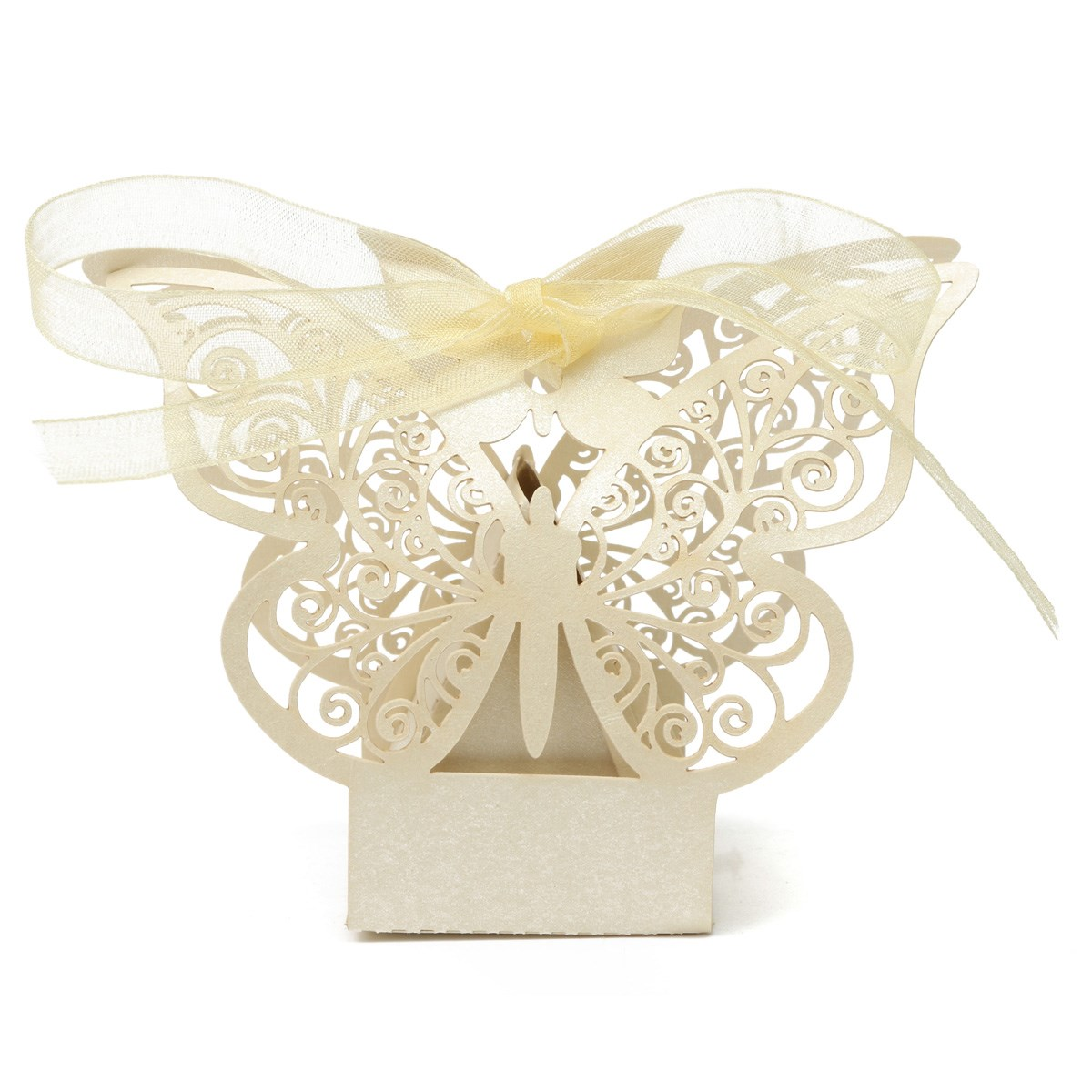 50Pcs/Pack European Style Wedding Gift Boxes Decoration Party Laser ...