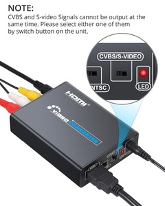 Image 3 - Proster HDMI to Composite 3RCA AV S Video R/L Audio Video Converter Adapter DAC Support 720P/1080P +RCA/S Video Cable Xbox