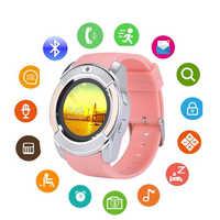 Smart Watch Men Women Sport Bluetooth IP67 SmartWatch Touch Screen Wrist Watch with Camera/SIM Card Slot, Waterproof Smart Wrist