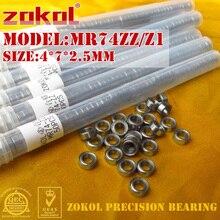Zokol mr74 ZZ подшипник MR74ZZ Z1 миниатюрный радиальный подшипник 4*7*2.5 мм