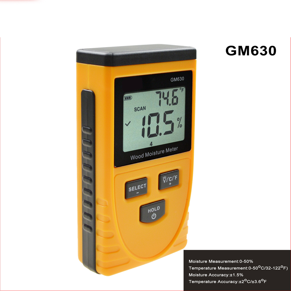 GM6310 Wood Moisture Meter Digital LCD Display Induction Portable Wood Moisture tester free shipping md918 digital 2 2 lcd induction wood moisture tester dark blue black 3 x aaa