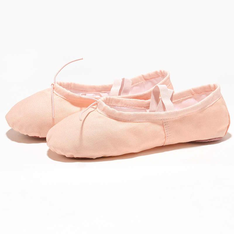 בד ורוד רך Zapatos דה פונטה דה בלט כפכפים BD בלט נעלי ריקוד בלט בנות נעלי ריקוד ילדים נשים