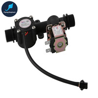 G1 2 Water Flow Sensor Solenoid Valve Plastic One Valve 1 30L Min