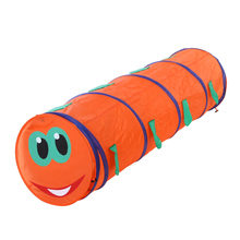 Kids Crawling Tunnel Children Tunnel Caterpillar Shape Crawling Tent Indoor Outdoor Play Game Tents Toys Tube Random Color(China)