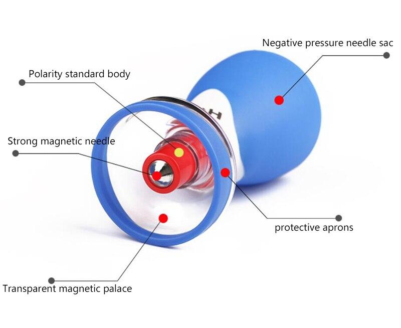 Les nouvelles cinq lignes d'aiguille bipolaire aimant aiguille six ménage ventouses acupuncture dispositif de ventouses therapy-wxz1 magnétique - 3