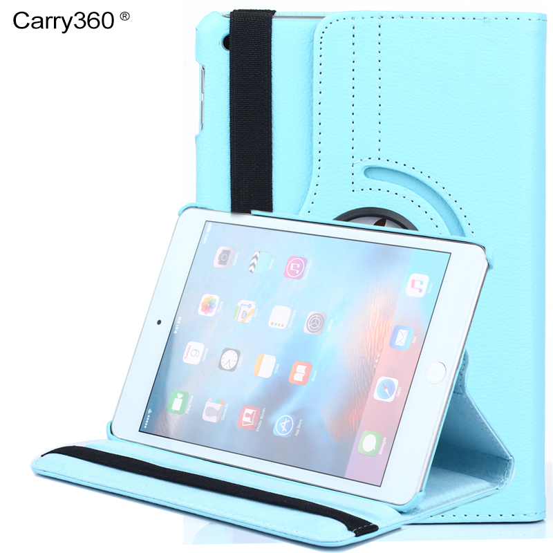 Case for iPad Mini 4, Carry360 Litchi PU Leather 360 Degree Rotating Stand Smart Cover for iPad mini 4 + Screen Protector