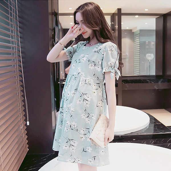 Fdfklak 2018 Fashion Maternity Dresses Summer Short Print Maternity Gown For Pregnant Women Clothes Dress For Pregnant Women F69