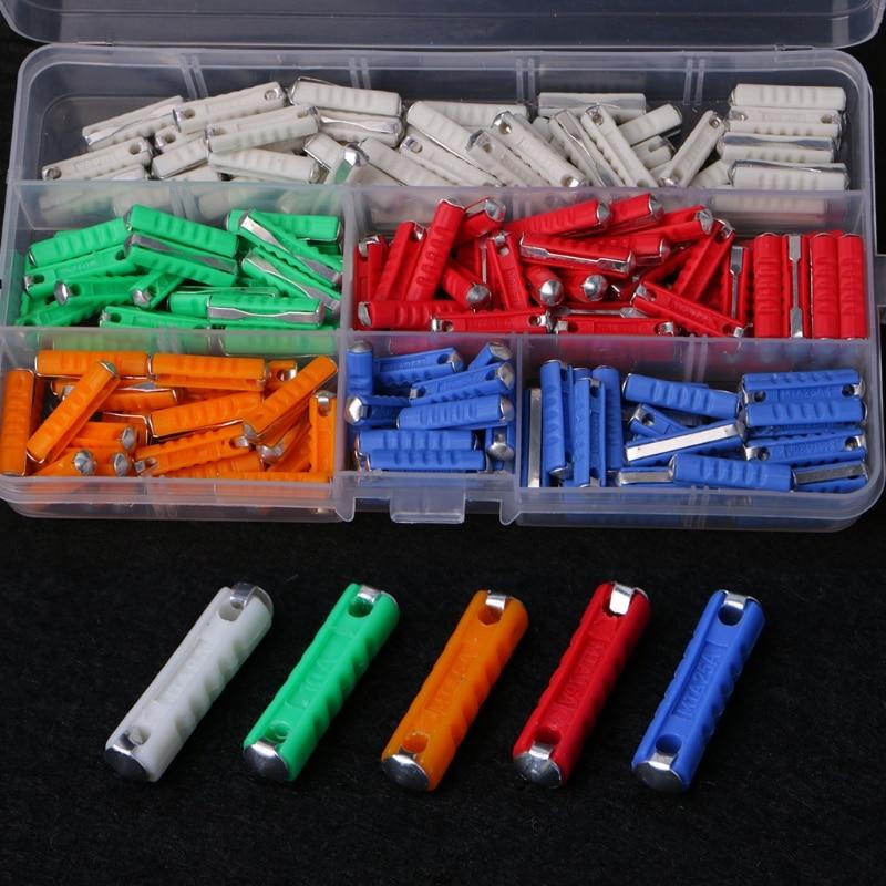 200Pcs 5A 8A 10A 16A 25A Ceramic Continental Car Fuse Set Bullet Classic LS'D Tool цена