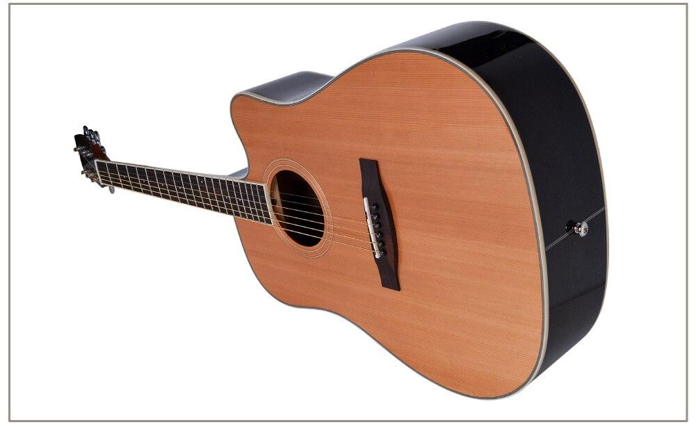 Guitarra cedro acústico elétrica de aço corda