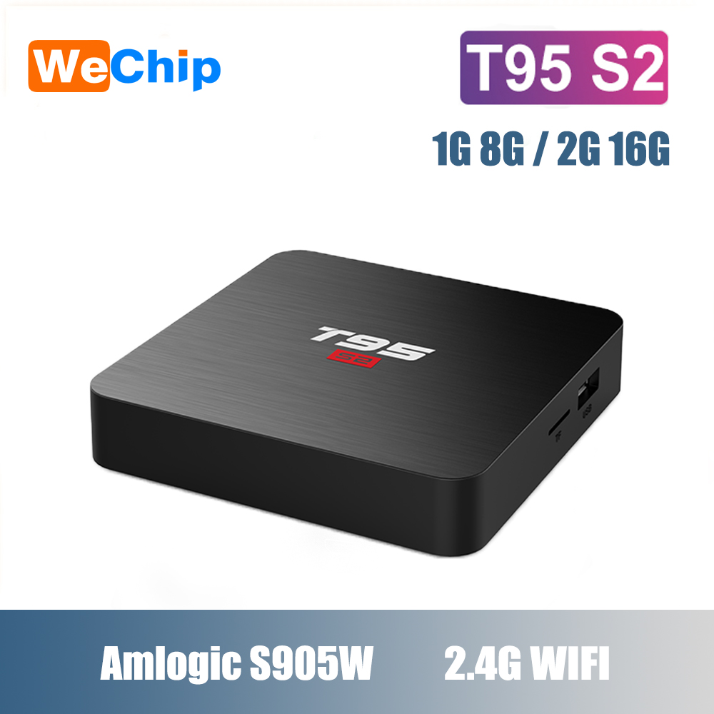 Wechip T95 S2 Smart TV Amlogic S905W Box Android 7.1 Support 4K 2GB 16GB Quad Core 2.4GHz WiFi HD Set top box Media PlayerWechip T95 S2 Smart TV Amlogic S905W Box Android 7.1 Support 4K 2GB 16GB Quad Core 2.4GHz WiFi HD Set top box Media Player