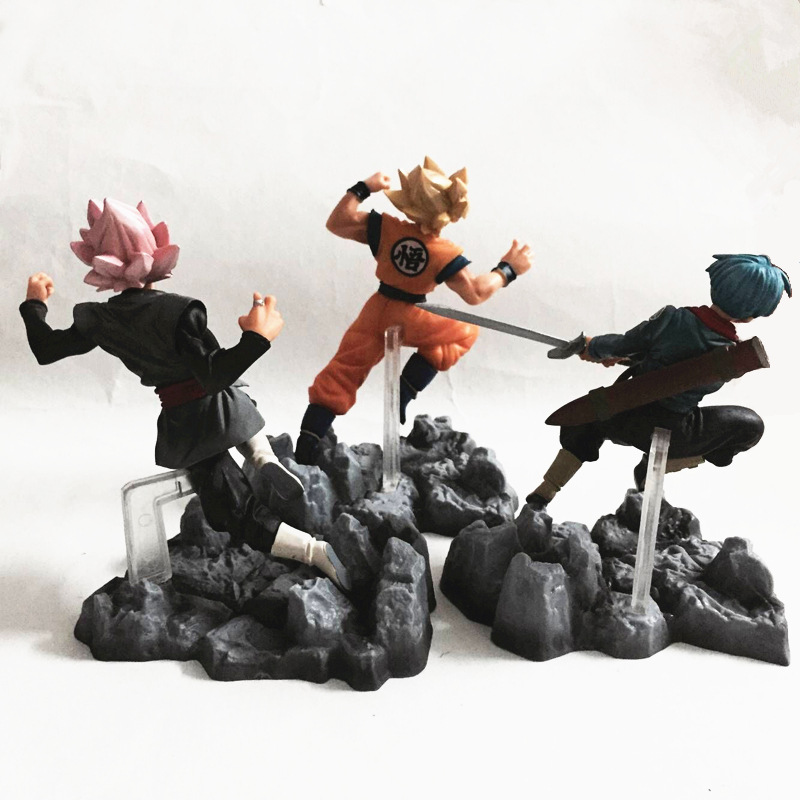 Anime Dragon Ball Figure Super Super Saiyan Son GoKu Kakarot Black Dragon Ball Gokou PVC Action Figure Collectible Model Toy anime figure 32cm dragon ball z super saiyan son goku lunar new year color limited ver pvc action figure collectible model toy