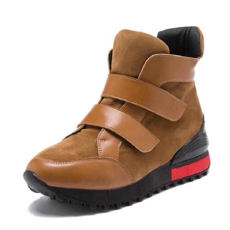 Black Brown Suede Cow Split font b Women s b font Causal Shoes Sport Fashion Walking