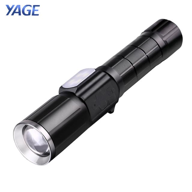 YAGE Rechargeable Led Flashlight Cree XML-T6 Lanterna Tactical flashlights USB Flashlight 18650 Lampe Touche Linternas Powe Bank