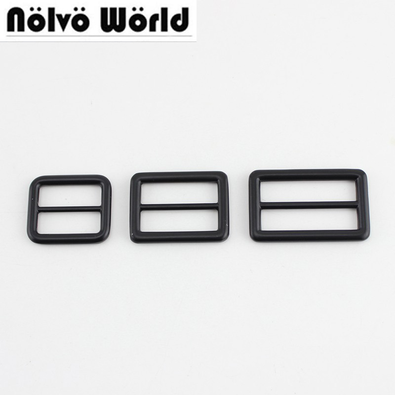 10pcs 50pcs 26mm 32mm 39mm Dark Black Handmade Bags Strap Handbag Shoulder Strap Adjust Round Edge Buckle High Quality Slider