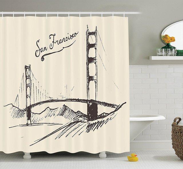 San Francisco Bridge Simple Classic Vintage Engraved Sketch Style ...