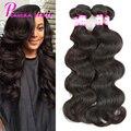 8A Grado Virgen peruana Virgin Hair Body Wave 4 Bundles Armadura Del Pelo Humano Peruano Sin Procesar Onda Del Cuerpo Peruano Pelo Pizazz