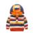 Alta Qualidade 2017 Outono Novo Estilo Do Bebê Das Meninas Dos Meninos de Algodão Manga Comprida Double Deck Tarja Hoodies Pollover Roupas Infantis T692