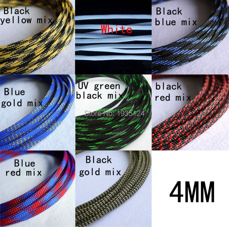 5M Good Quality 4mm Sheathing Auto Wire Harnessing Braided Cable ...