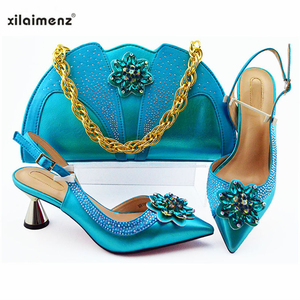 Image 5 - Latest Silver Color Wedding Clutch Bag Match Nigerian Women Shoes and Bag Matching Set African Shoes and Bag Match for Party