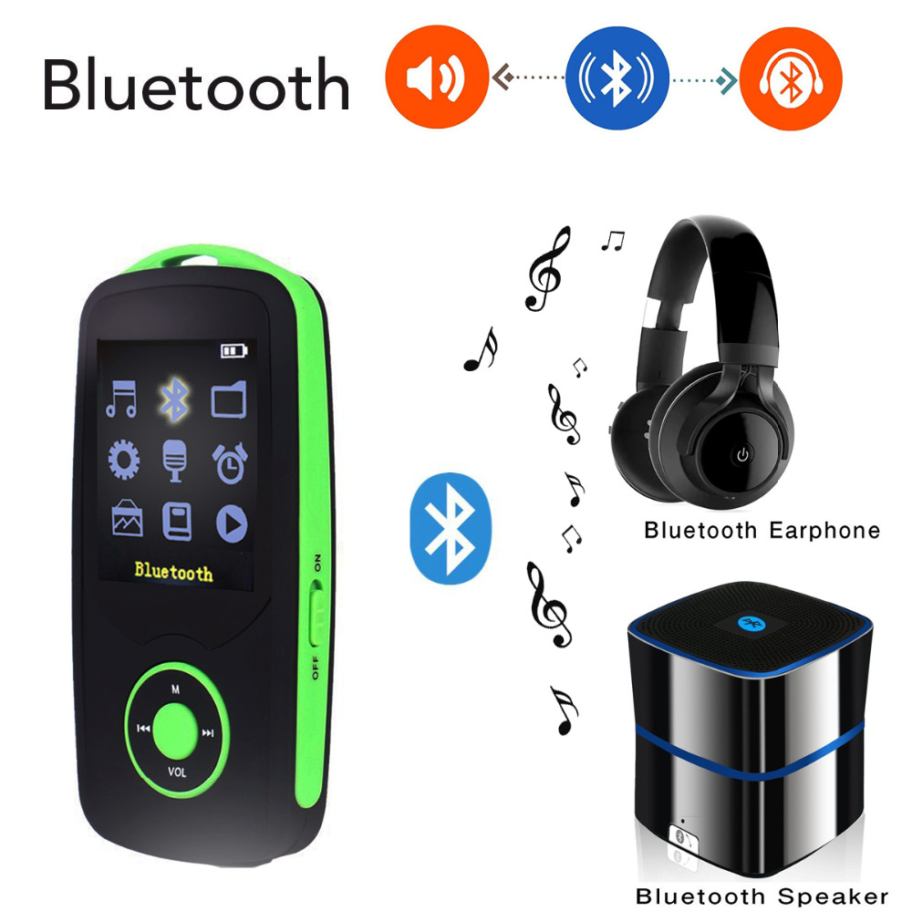 Original 16GB MP4 Player Bluetooth Music Player Video Play Voice Recording FM Recorder C ...