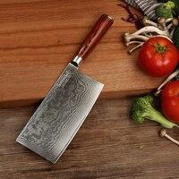 SUNNECKO 7 ''Кливер Ножи Дамаск Сталь японский VG10 Core лезвие Кухня ножей Pakka Деревянная Ручка мяса инструментов для нарезки овощей