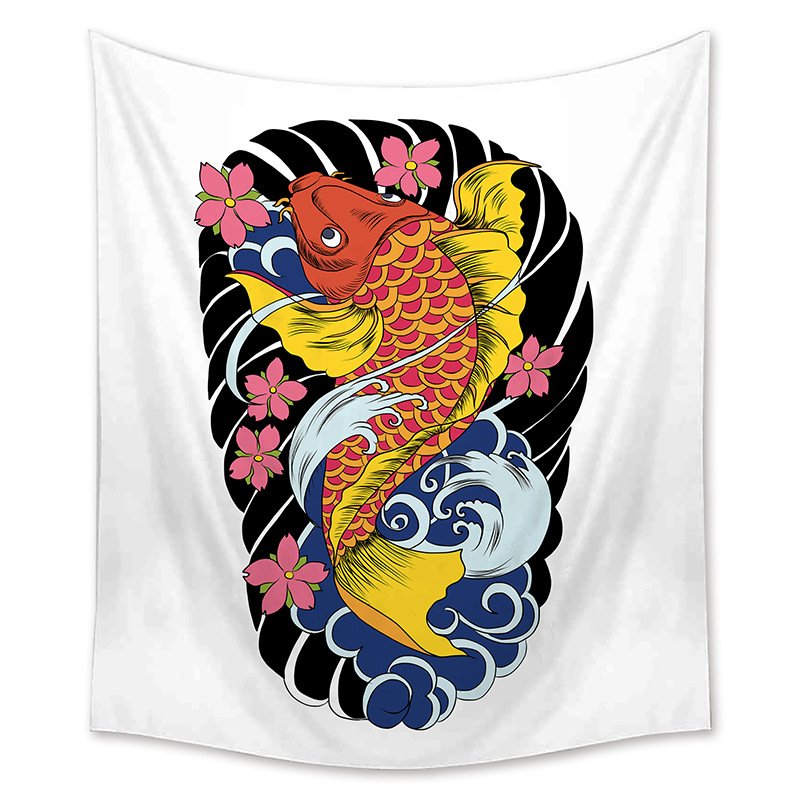 Zeegle Japanese Style Wall Hanging Tapestry Home Decor Wall Art Tapestry Sofa Chair Cover Picnic Mats Beach Towel Table Cloth