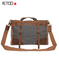 AETOO New canvas bag wholesale mad horses canvas large bag shoulder Messenger a generation on behalf of the meter funeral style