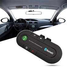 Handsfree chamando bluetooth kit carro sem fio bluetooth alto-falante telefone mp3 leitor de música sun visor clipe speakerphone transmissor fm