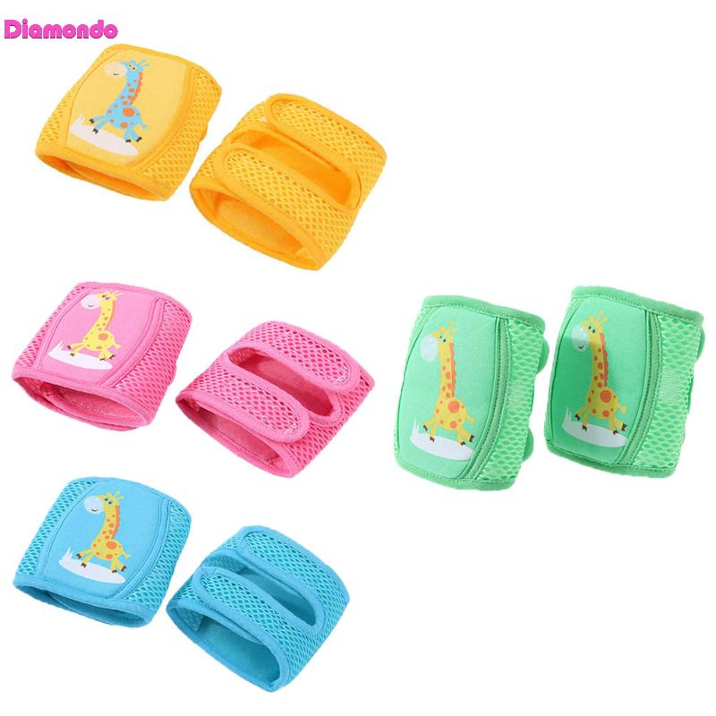 Breathable Baby Safety Mesh Kneepads Kids Infant Toddlers Cute Cartoon Crawling Knee Pads Protector Children Safe Leg Warmers