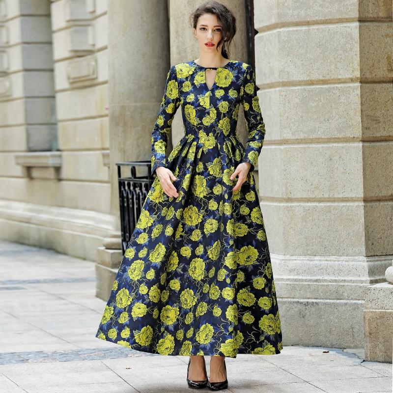 2016 s 3xl fall plus size long sleeve maxi dress muslim women