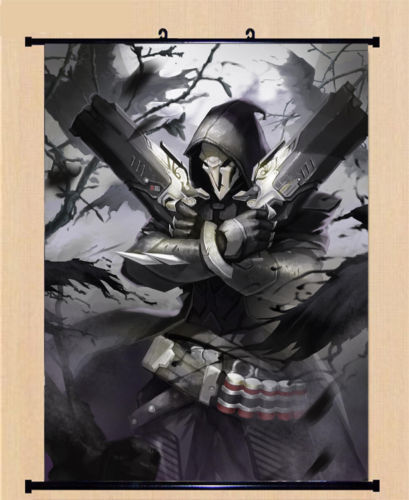 game overwatch ow reaper cosplay poster wall home decor scroll gift