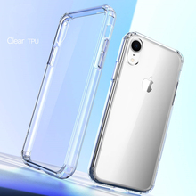 Scratch-resistant Shock Absorber Phone Case For iPhoneX XS 876s Plus Slim Clear Soft TPU Cover Wireless Charging Cell