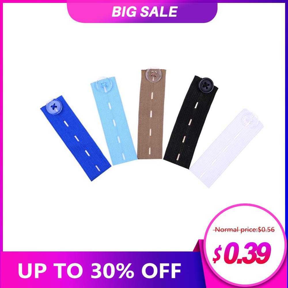 Trousers Pregnant Elastic Buckle Waist Waistband Extender Button Pant Elastic Extender Wonder Button Belt Extension Buckle